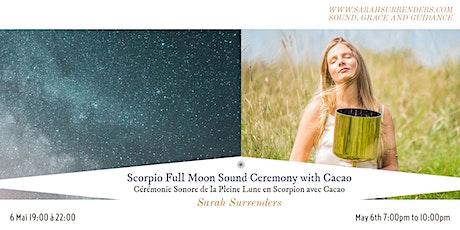 Scorpio Full Moon Sound Ceremony tickets