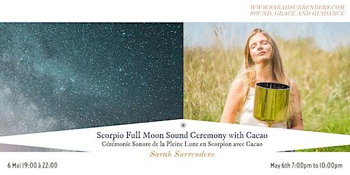 Scorpio Full Moon Sound Ceremony