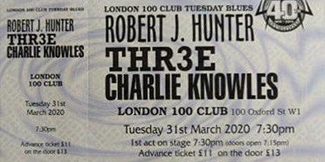 THR3E at 100 Club London 6th April 2021 tickets