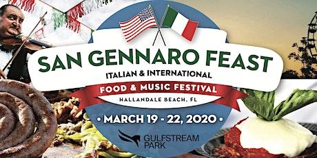 San Gennaro Feast - Gulfstream Park tickets
