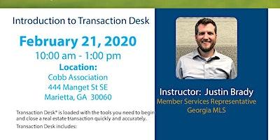 Introduction to Transaction Desk (3HR CE)