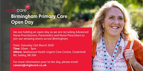 Birmingham Primary Care Open Day tickets
