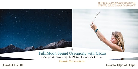 Full Moon Sound Ceremony with Cacao billets
