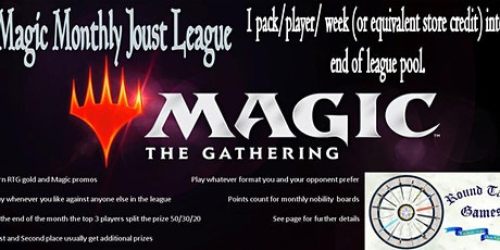 Magic February Joust League at Round Table Games tickets