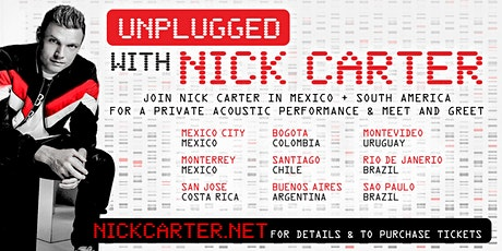 Unplugged with Nick Carter - Rio de Janerio, Brazil tickets