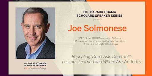 Obama Scholars Program Speaker Series | Repealing 'Don't Ask , Don't Tell'