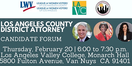 L.A. County District Attorney Candidate Forum tickets