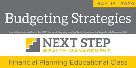 BUDGETING STRATEGIES FOR THE NEW YEAR - May 19, 2020 tickets