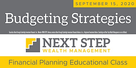 BUDGETING STRATEGIES FOR THE NEW YEAR  -  September 15, 2020 tickets