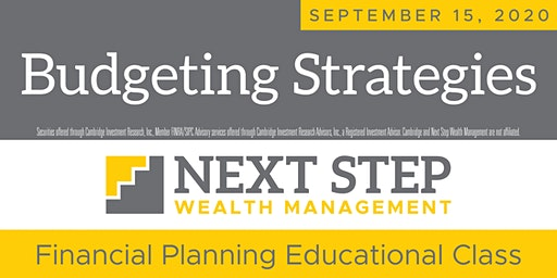 BUDGETING STRATEGIES FOR THE NEW YEAR  -  September 15, 2020