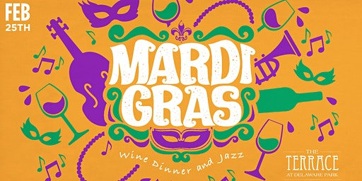 Mardi Gras Wine Diner - Celebrate New Orleans Cuisine, French Wines & Jazz