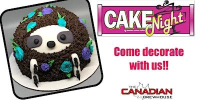 CakeNight - Okotoks - Sloth Cake