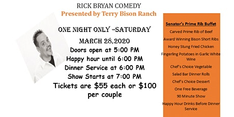 Dinner & Comedy Show tickets