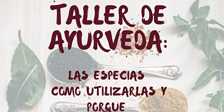 TALLER DE AYURVEDA VOL1: LAS ESPECIAS entradas
