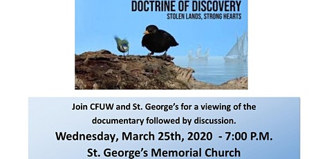 Doctrine of Discovery - viewing and discussion tickets