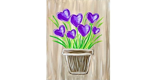 King's Point Pub - Heart Flowers - Paint Party