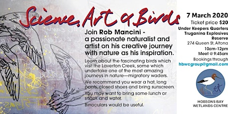 Science, Art & Birds workshop with Rob Mancini tickets