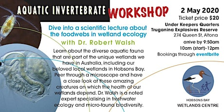 Aquatic invertebrate workshop with Dr. Robert Walsh tickets