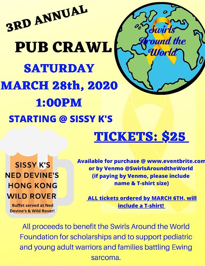 Swirls Around the World 3rd Annual Pub Crawl image
