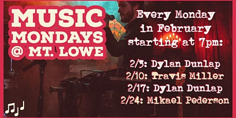 Music Mondays @ Mt. Lowe tickets