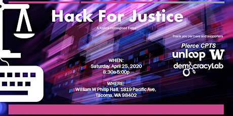 Hack For Justice 2020 tickets