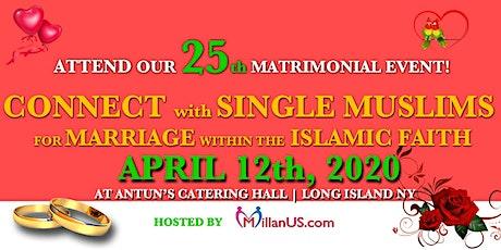 MillanUS.com Hosts The 25th Muslim Matrimonial Event, LI NY tickets
