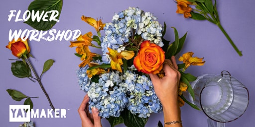 Flower arrangement and sip party