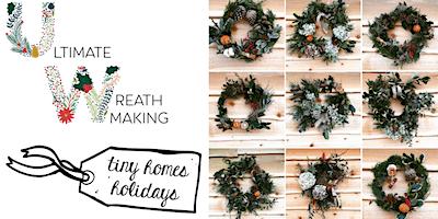 Natures Bounty Christmas wreath making workshop