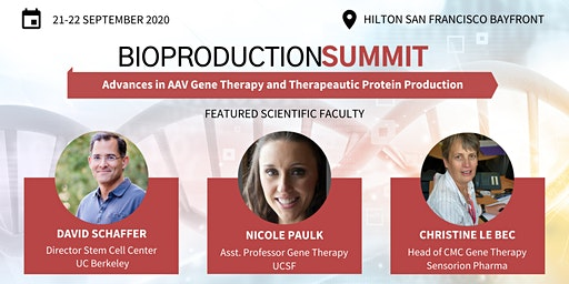 Bioproduction Summit 2020, Advances in AAV & Therapeutic Protein Production