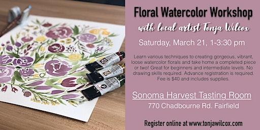 Floral Watercolor Workshop w/ Tonja Wilcox at Sonoma Harvest