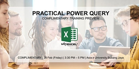 Practical Power Query | Training Preview tickets
