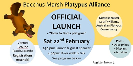 Bacchus Marsh Platypus Alliance - Community Launch