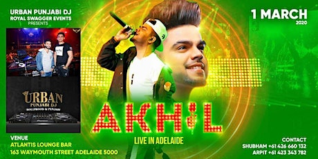 Akhil Live in Adelaide with Urban Punjabi Dj tickets