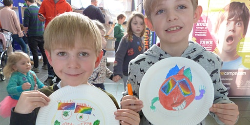 Health and Wellbeing for Kids - Paint your face on a plate
