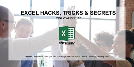 EXCEL HACKS | Mini Workshop tickets