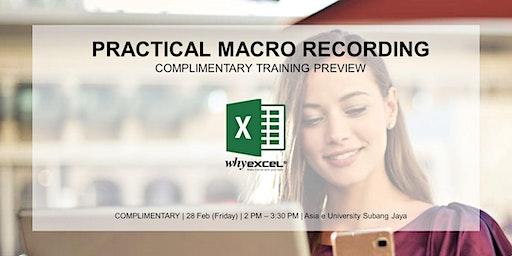 Practical Macro Recording | Preview