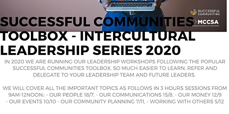 Successful Communities - Intercultural Leadership: Toolbox Series - Leading Our Money 12/9 tickets