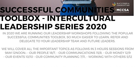 Successful Communities - Intercultural Leadership: Toolbox Series - Leading Our Events 10/10 tickets