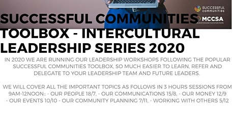 Successful Communities - Intercultural Leadership: Toolbox Series - Leading Our Community Planning 7/11 tickets