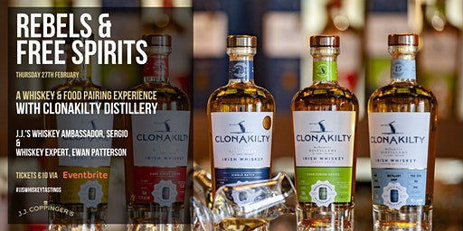 Rebels & Free Spirits -  a whiskey & food tasting event