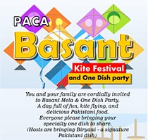 Basant Mela & One Dish Party - Kite Flying Multicultural Event
