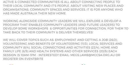 Active & Connected Communities: Local Services & Community 8/4 tickets