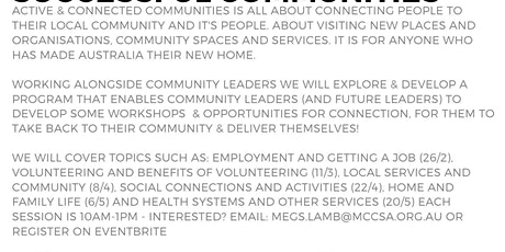 Active & Connected Communities: Social Connections & Activities 22/4 tickets