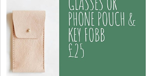 Leather Glasses Or Phone Pouch And Key Fob
