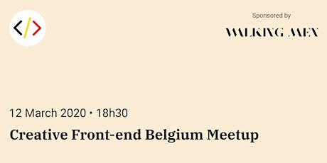 Creative Front-end Belgium Meetup tickets