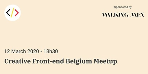 Creative Front-end Belgium Meetup