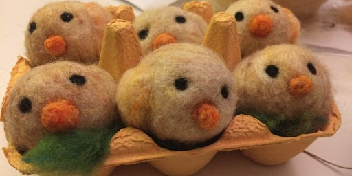 Felting Spring Eggs and Chicks