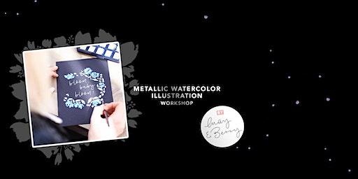 METALLIC WATERCOLOR Illustration 19. April 2020