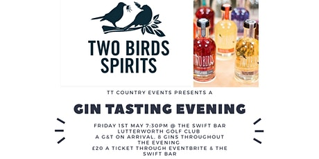 New Date 4th SEPT Two Birds Gin Tasting Evening  tickets