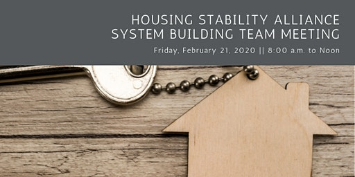 Housing Stability Alliance System Building Team Meeting